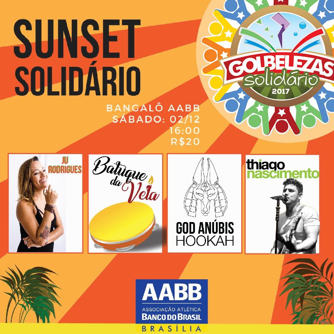 dd358af36d113 Evento Navegação. « Golbelezas Solidário · Reveillon AABB 2018 – Bons  Ventos ». Convidamos a todos para curtir o SUNSET SOLIDÁRIO.